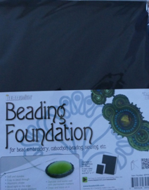 Beadsmith Beading Foundation, 4 vellen 8,5x11 inch, zwart/wit