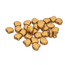 Matubo 2-Hole Ginko Bead Bronze Gold