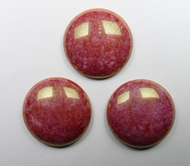 Czech glass cabochons 24 mm
