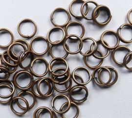 Splitringetjes, bronskleur 6 mm