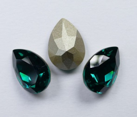 Peervormige Fancy Stone, 14x10 mm, Swarovski, Emerald