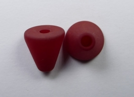 10 mm Polaris kegel kraal, ruby