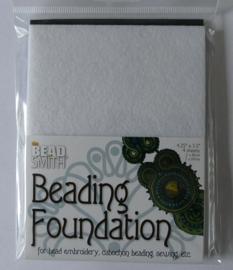 Beadsmith Beading Foundation, 4 vellen van 4,5x5 inch, zwart/wit