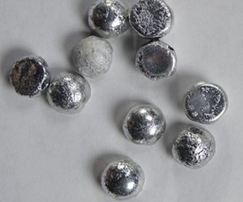 2-hole Cabochons, 6 mm, Crystal Etched Labrador Full