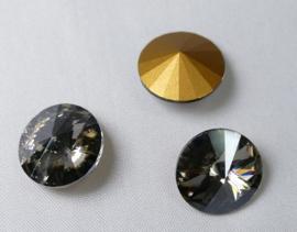 Rivoli, 14 mm, Preciosa, Crystal Velvet