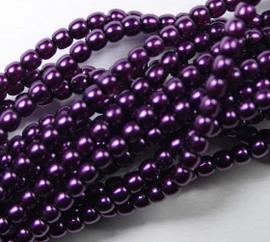 Czech glasparels, 2 mm, Purple