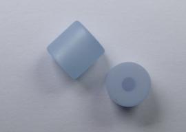 8 mm Polaris cilinder kraal, zacht blauw