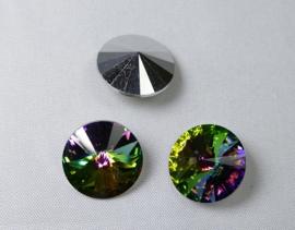 Rivoli, 14 mm, Preciosa, Crystal Vitrail Medium