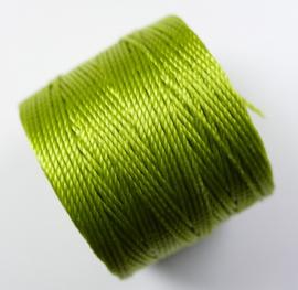S-Lon TEX 210 Superlon Bead Cord, Chartreuse
