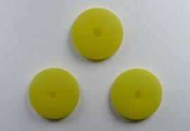 16 mm Polaris halfronde kraal, geel
