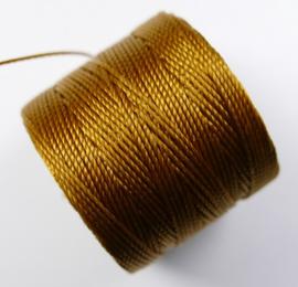 S-Lon TEX 210 Superlon Bead Cord, Gold