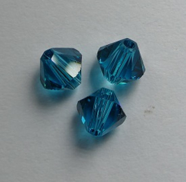 5 mm Blue Zircon Swarovski Element Bicones