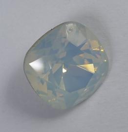Vierkante steen, 12mm, Swarovski, White Opal Starshine