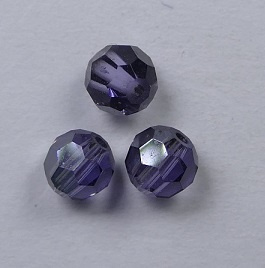4 mm  Satin Tanzanite  Swarovski Element Rounds