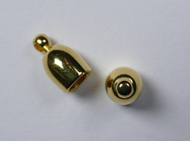 Bullet End Cap, 4 mm, Gold plated