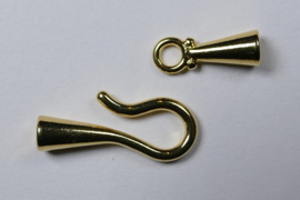 Haaksluiting, 3,2 mm, Gold plated