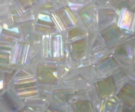 Miyuki Tila Beads, 5x5 mm , Crystal AB, kleurnummer 250