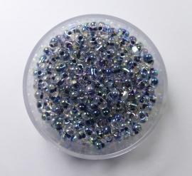 Miyuki Berry Bead, Noir Lined Crystal AB, kleurnummer 283