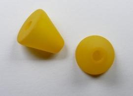 10 mm Polaris kegel kraal, saffraan