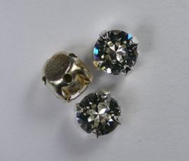 Rosemontees, silverplated crystal, 6 mm