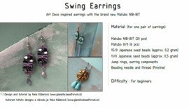 Gratis patroon: Swing Earrings