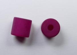 8 mm Polaris cilinder kraal, fuchsia