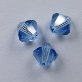 6 mm Aquamarine Swarovski Element Bicones