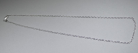 Ketting, sterling zilver, 18 inch