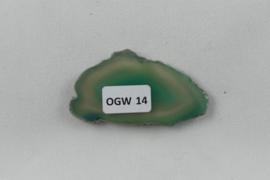 Agaatschijf, 51x28 mm, groen