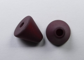 10 mm Polaris kegel kraal, bordeaux