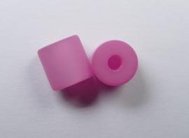 8 mm Polaris cilinder kraal, pink
