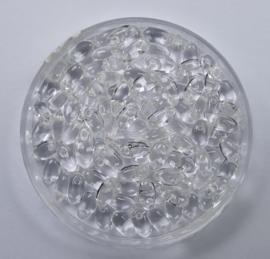 Czech Glass Rizo Beads, Crystal