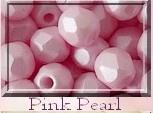 Czech Glass,  Firepolish, 3 mm Light Pastel Pink