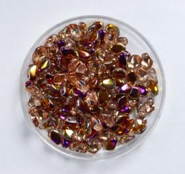 Gekko beads, 3x5 mm, Crystal Sliperit