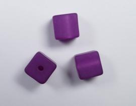 8 mm Polaris kubus kraal, lila