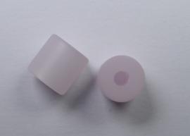 8 mm Polaris cilinder kraal, rosa