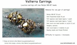 Gratis patroon: Volterra Earrings