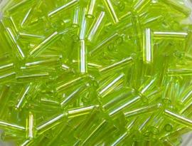 Miyuki Bugles, 6mm, Transparent Chartreuse AB, kleurnummer 258