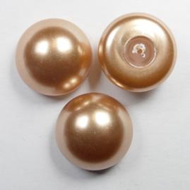 Parel Cabochons, 16 mm, Swarovski, Rose Gold