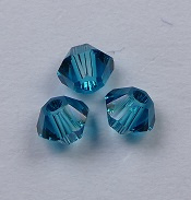 3 mm Blue Zircon Swarovski Element Bicones