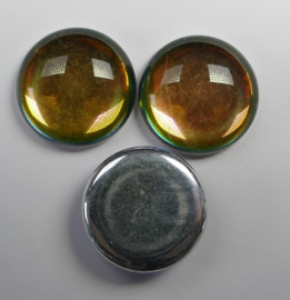 Czech Round Cabochon, 18 mm, Backlit Utopia