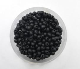 Miyuki Drops, 3,4mm, Black Matted, kleurnummer 401F