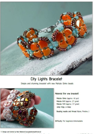 Gratis patroon: Ginko City Lights Bracelets