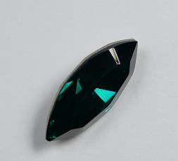 Navette 4228, 15x7 mm, Swarovski, Emerald