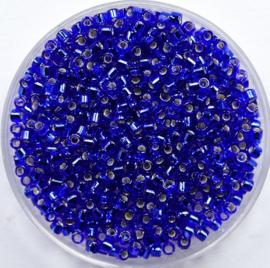 Miyuki Delica's, 10/0, Silver Lined Cobalt, kleurnummer 47