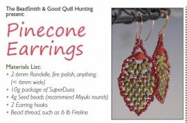 Gratis patroon: Pinecone Earrings
