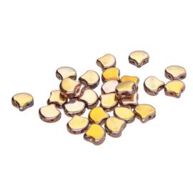 Matubo 2-Hole Ginko Bead Crystal Full Capri