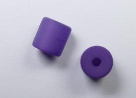 8 mm Polaris cilinder kraal, donker lila
