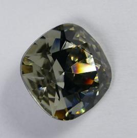 Vierkante steen, 12mm, Swarovski, Black Diamond