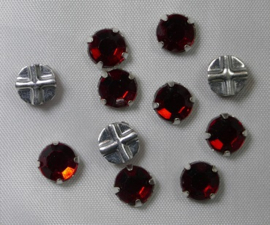 Rosemontees, 6,5 mm, Light Siam Ruby, 6 stuks